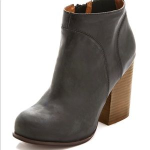 Jeffrey Campbell Hanger Leather Booties Black 7 M